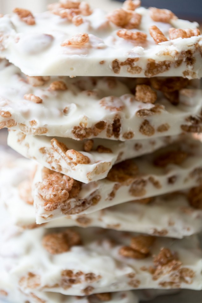 creamy white chocolate and Cocoa Krispies cereal makes a quick and easy candy treat