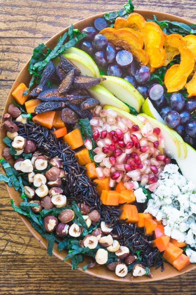 Autumnal Harvest Salad with Pomegranate Molasses Dressing