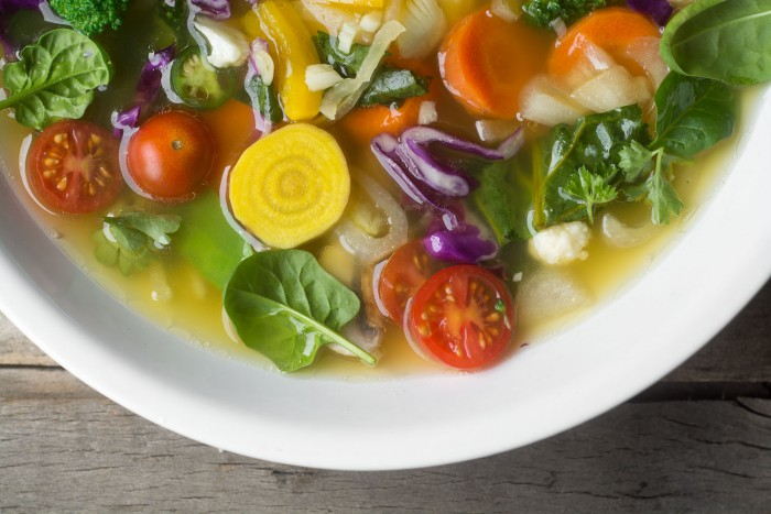 A slimming detoxifying nourishing soup to help get you back on track with healthy eating