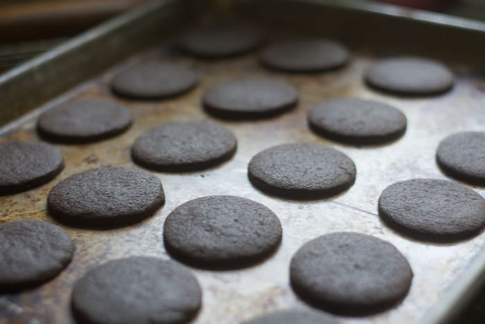 Baking Gluten Free Thin Mint Cookies --- better than the originals!