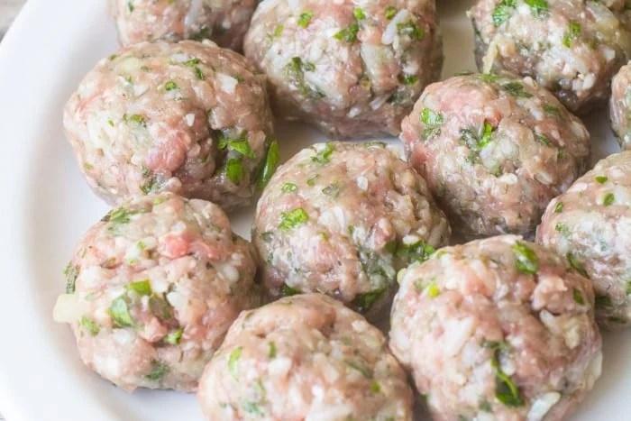 Making Greek Meatballs in Lemon Sauce