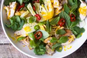 Saffron Chicken and herb Salad from Jerusalem