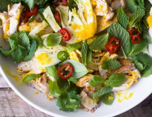 Saffron Chicken and herb Salad from Jerusalem