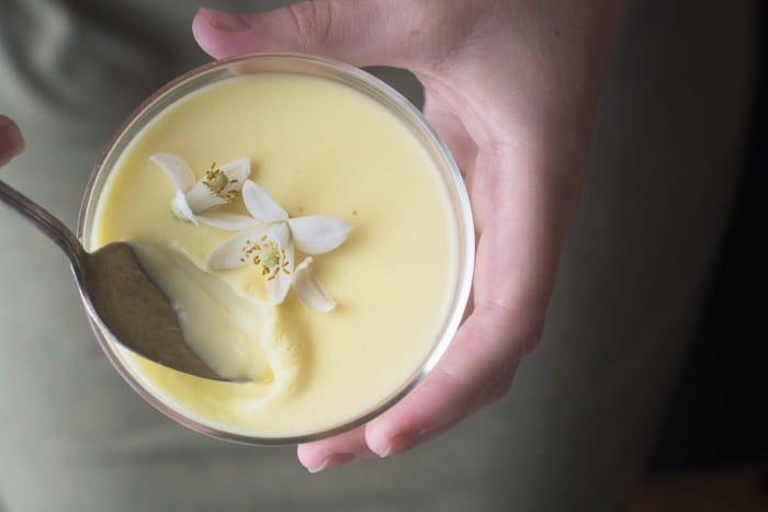 Grapefruit Blossom Pot de Creme is an elegant dessert infused with the essence of spring