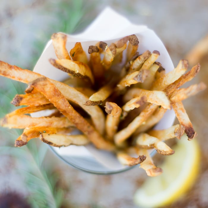 Baked Skinny Fries are crisp and delicious, without the extra calories | theviewfromgreatisland.com