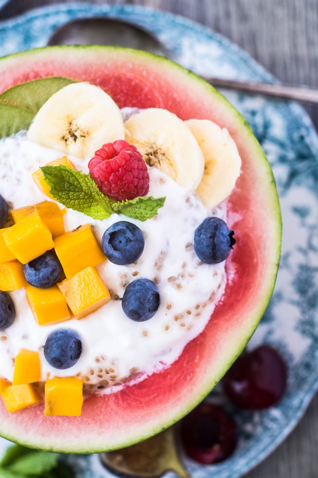 Nobody will skip breakfast with these fun Melon Breakfast Bowls around!   theviewfromgreatisland.com
