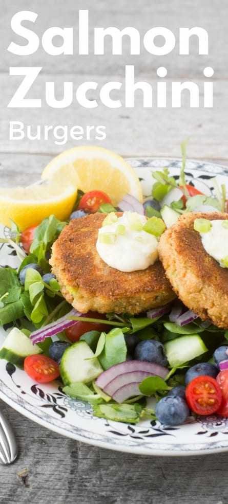 Salmon and Zucchini Burgers transform leftover fish into a quick, elegant, and delicious 30 minute meal ~ theviewfromgreatisland.com