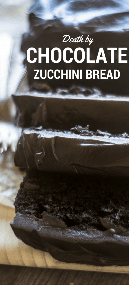 Death by Chocolate Zucchini Cake is an addictive, decadent dessert topped off with a bittersweet chocolate ganache --- wow! ~ theviewfromgreatisland.com