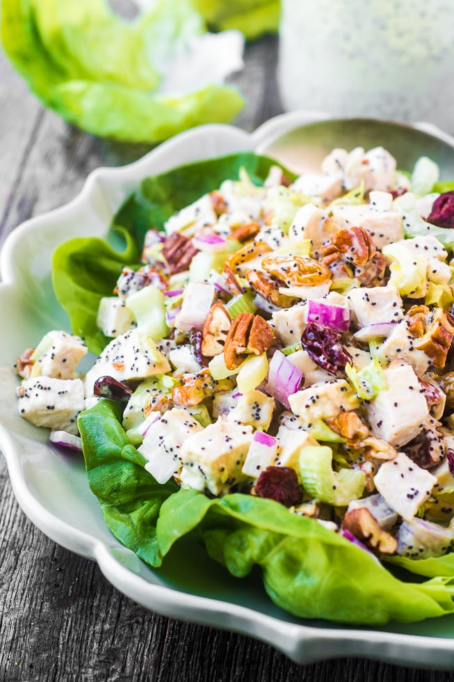 Chicken Salad with Poppy Seed Mayonnaise is fabulous and everybody will want the recipe --- the may is made from scratch! | theviewfrombreatisland.com