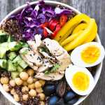 Albacore Buddha Bowl is made with protein rich wild caught tuna on a bed of red quinoa ~ theviewfromgreatisland.com