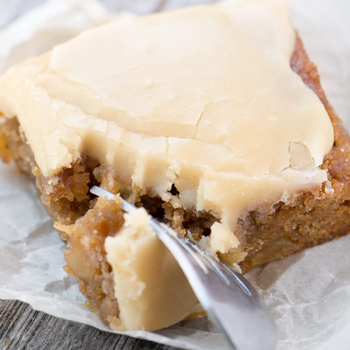 Maple Frosted Apple Blondies are the perfect Fall snack~ theviewfromgreatisland.com