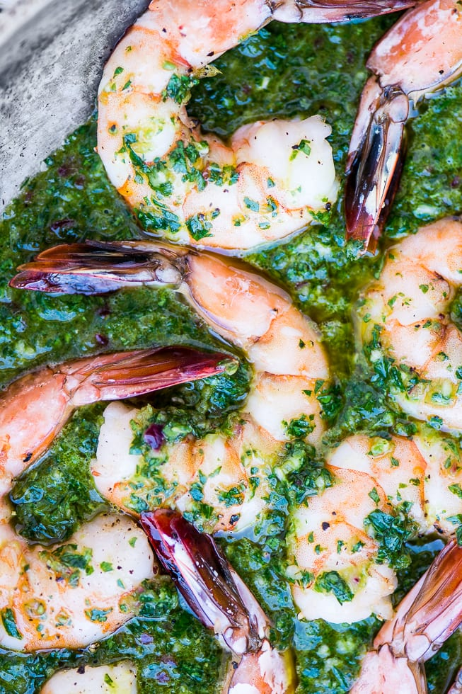 Chimichurri Shrimp recipe is a quick and easy game night appetizer ~ theviewfromgreatisland.com