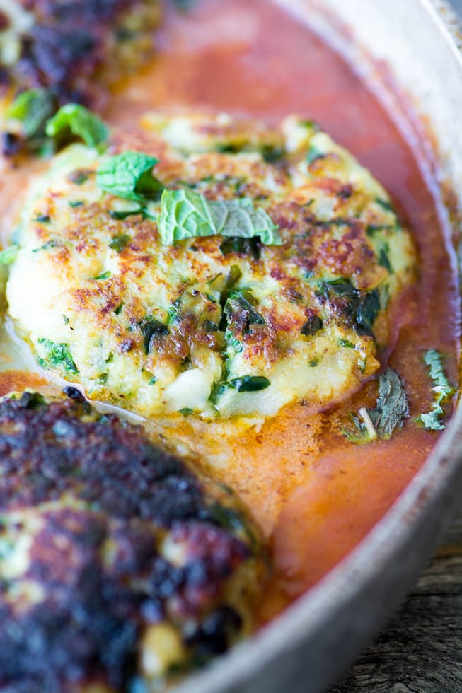 Ottolenghi's Cod Cakes in Tomato Sauce ~ theviewfromgreatisland.com
