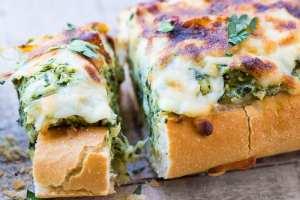 Spinach Artichoke Dip Stuffed Bread ~ theviewfromgreatisland.com