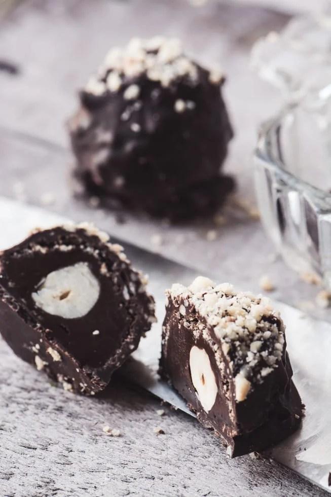 Homemade Ferrero Rocher Chocolate Hazelnut Truffles ~ theviewfromgreatisland.com