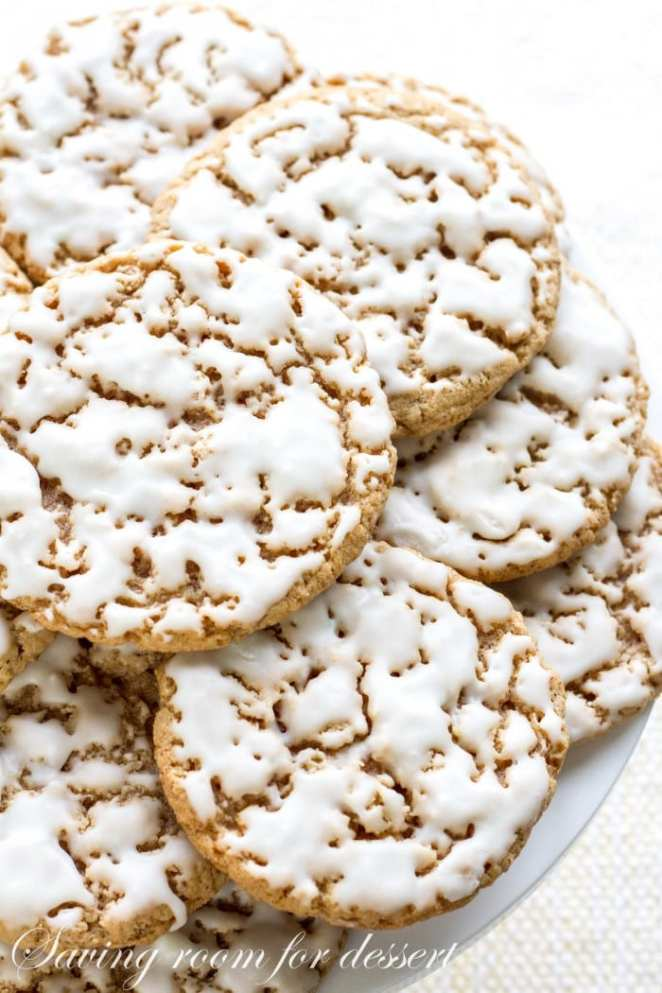 iced oatmeal cookies from Saving Room For Dessert
