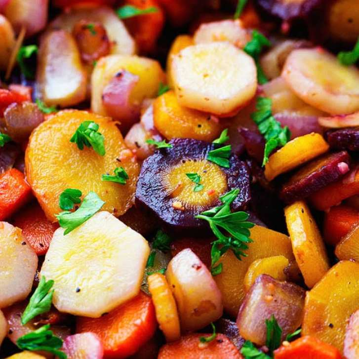 rainbow carrots from The Recipe Critic