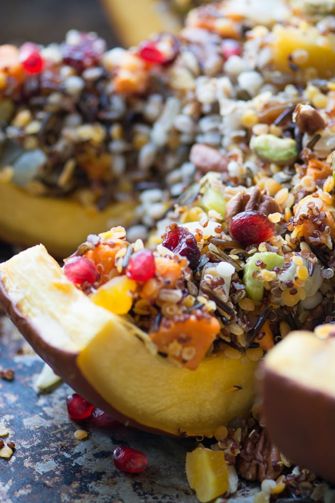 The Great Stuffed Pumpkin is a dramatic side dish or a vegan main course ~ theviewfromgreatisland.com