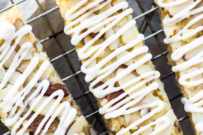 Scandinavian Almond Bars ~ buttery shortbread bars packed with almond flavor! ~ theviewfromgreatisland.com
