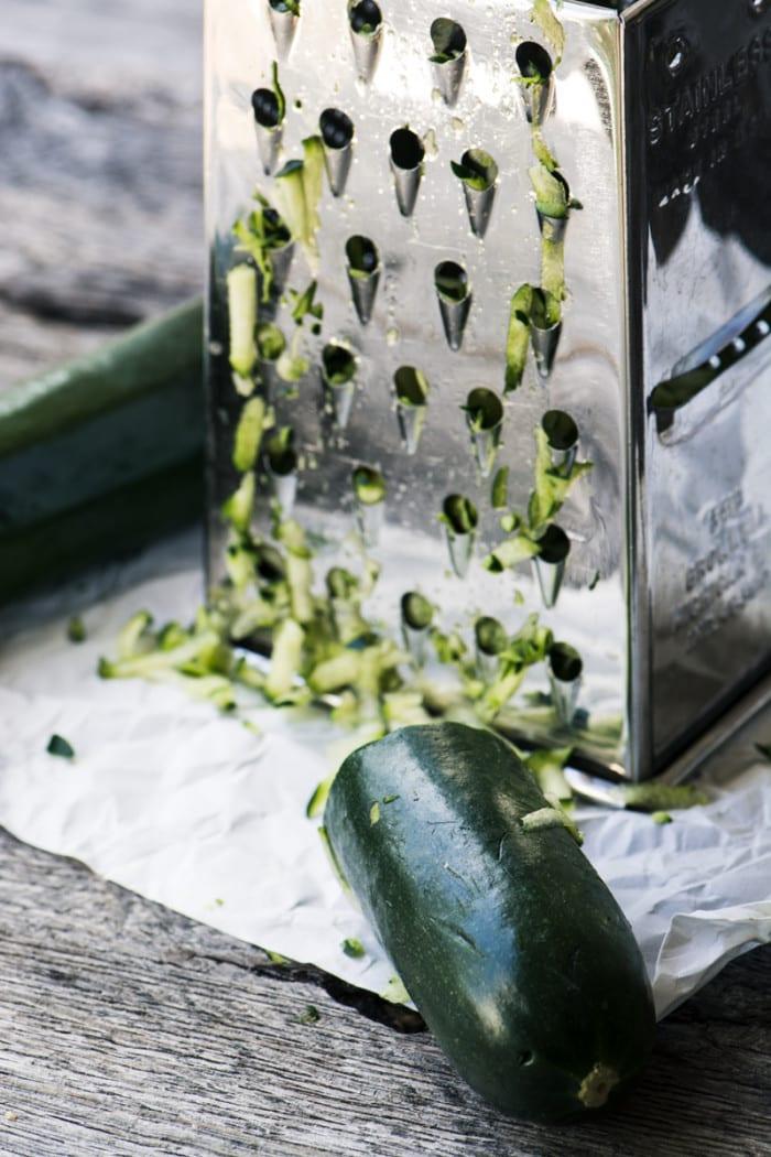 Making zucchini latkes ~ theviewfromgreatisland.com