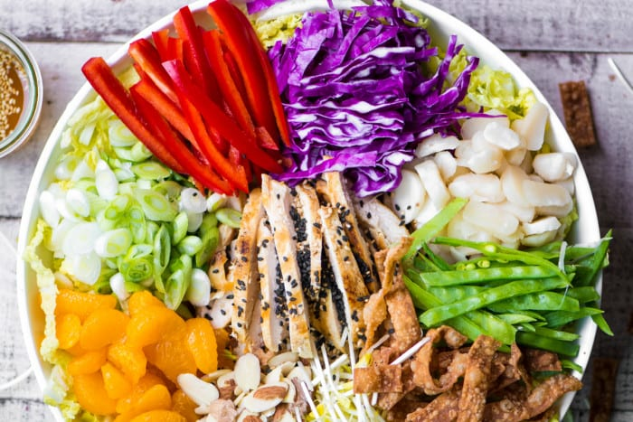 Chinese Chicken Salad is a classic main course salad that can't be beat for bright flavors and an insane crunch factor! ~ theviewfromgreatisland.com
