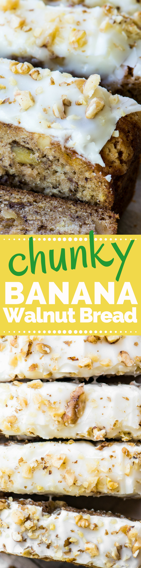 Better than Starbucks Banana Walnut Bread (with cream cheese frosting!) #bananabread #starbucks #starbuckscopycat #bananaloaf #bananacake #quickbread #coffeecake #creamcheesefrosting #dessert #banananutbread #bestbananabread #easybananabread