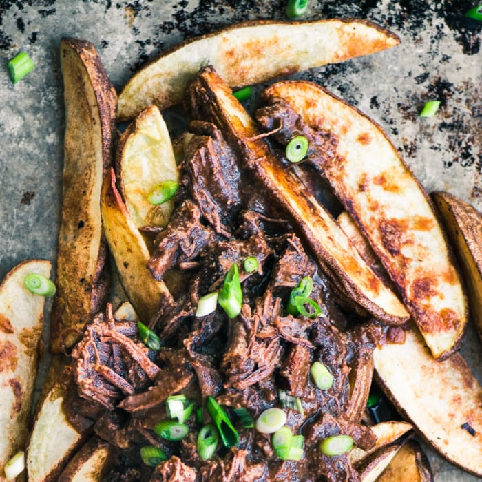 Braised Short Rib Fries ~ the ultimate comfort food! ~ theviewfromgreatisland.com