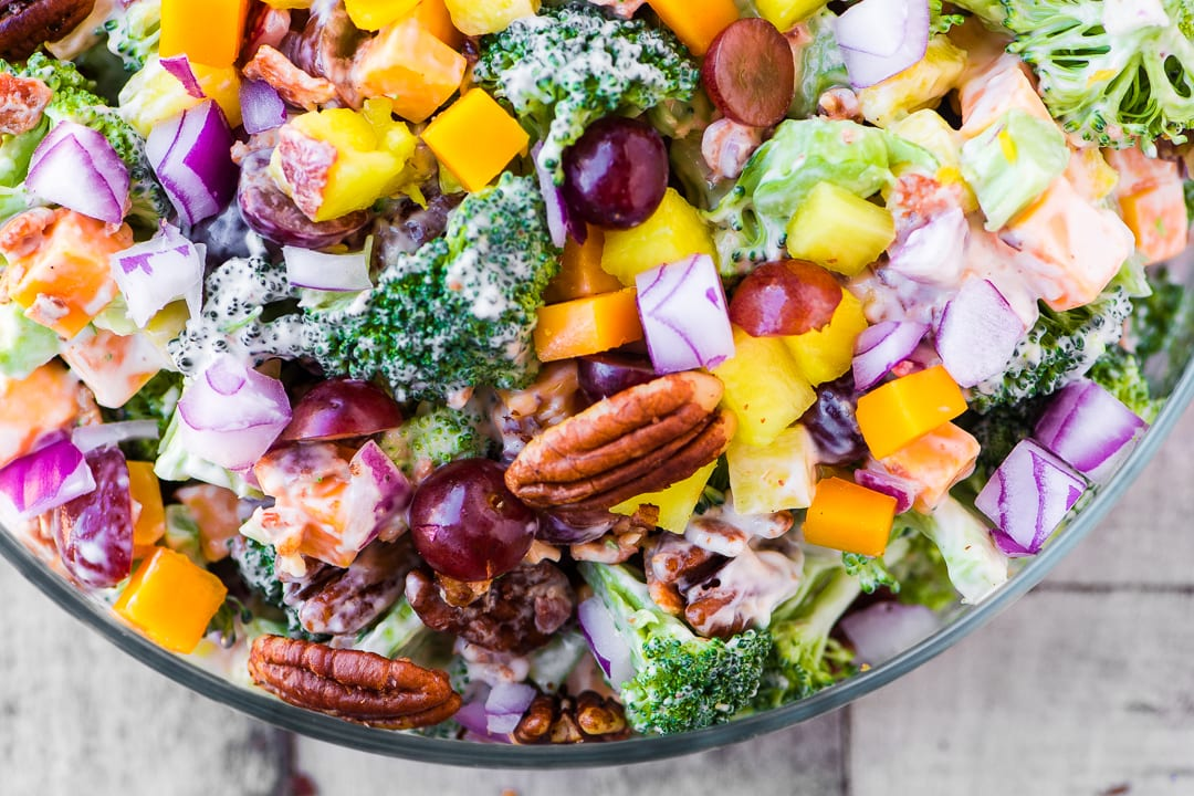 Broccoli Salad With Pineapple Bacon And Spiced Pecans The View