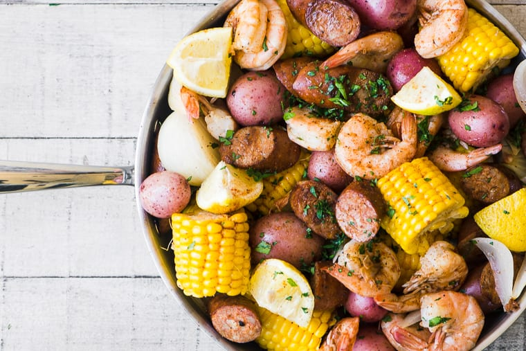 Low Country Shrimp Boil ready to eat!