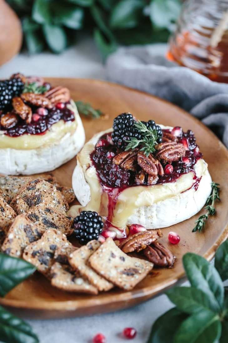 What to Eat Now: Blackberries ~ baked Brie with blackberry compote
