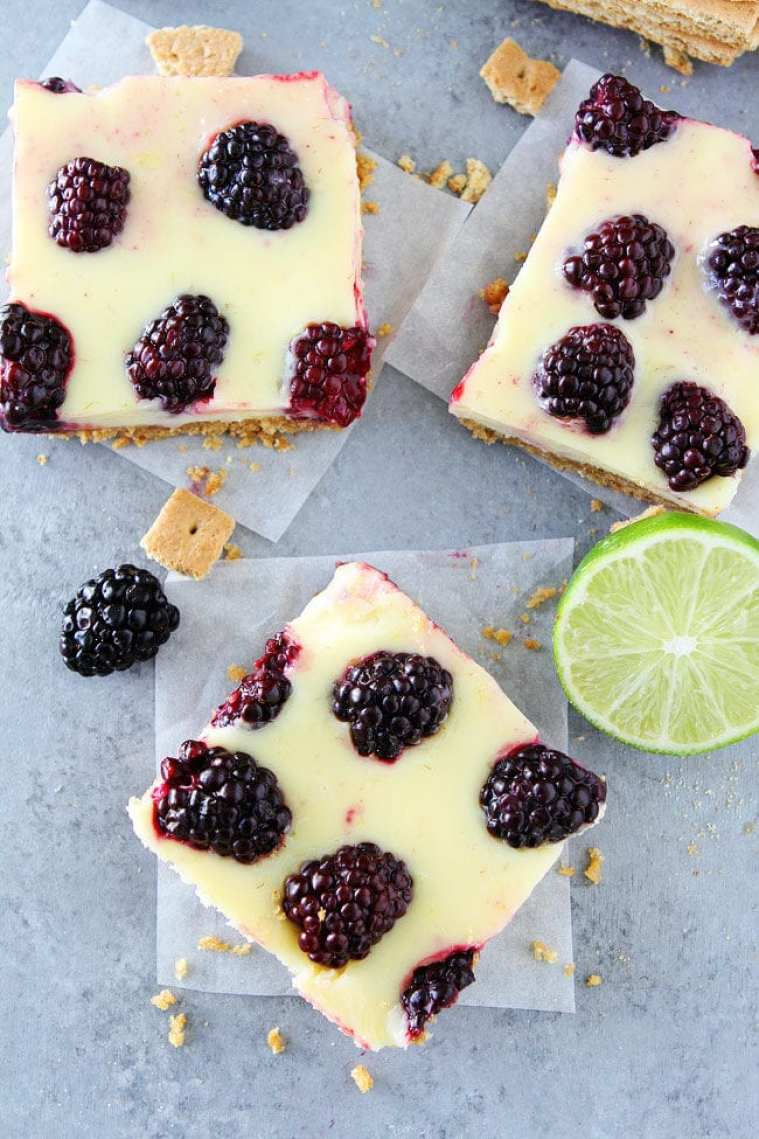 What to Eat Now: Blackberries ~ blackberry lime bars