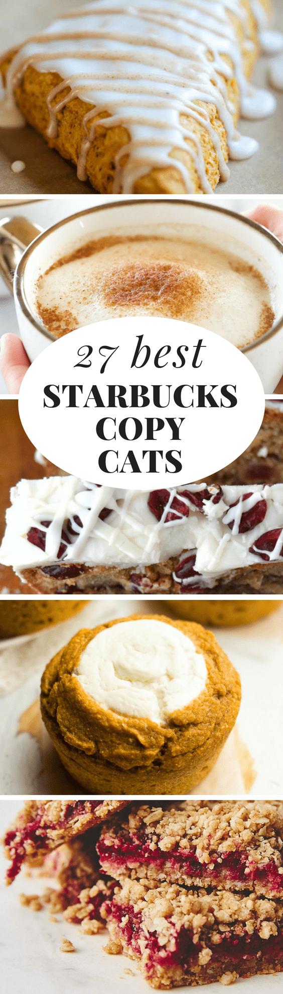 What to Make Now: Starbucks Copy Cat Recipes ~ here are the best 27 Starbucks copy cat recipes from lattes to lemon loaves...#starbucks #starbuckscopycatrecipe #copycat #coffee #poundcake #scones #croissants #muffins #cookies #brownies #roundup #fallrecipes #breakfast #brunch #latte #hotchocolate #lemoncake #pumpkin #pumpkinscones #bananabread