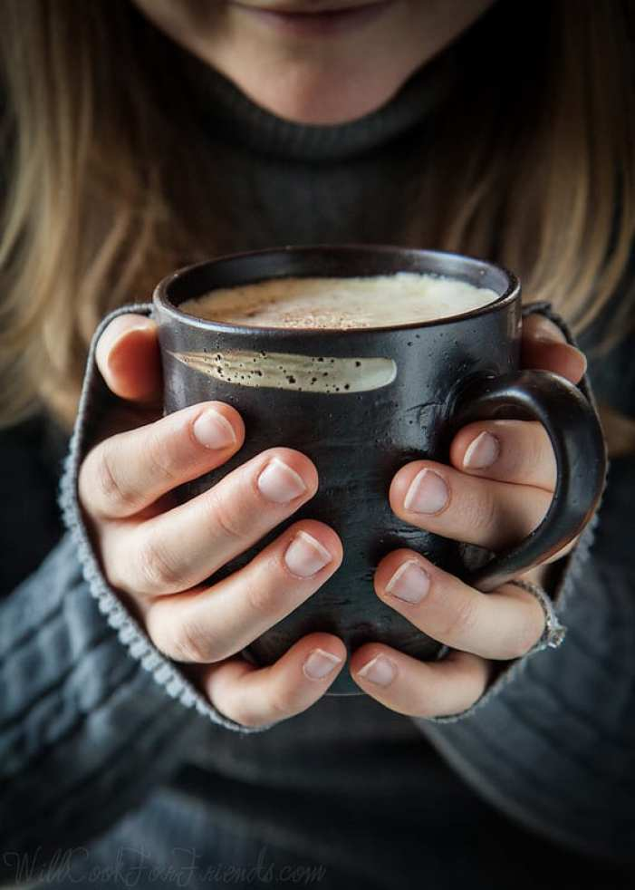 Chai orange spice white hot chocolate