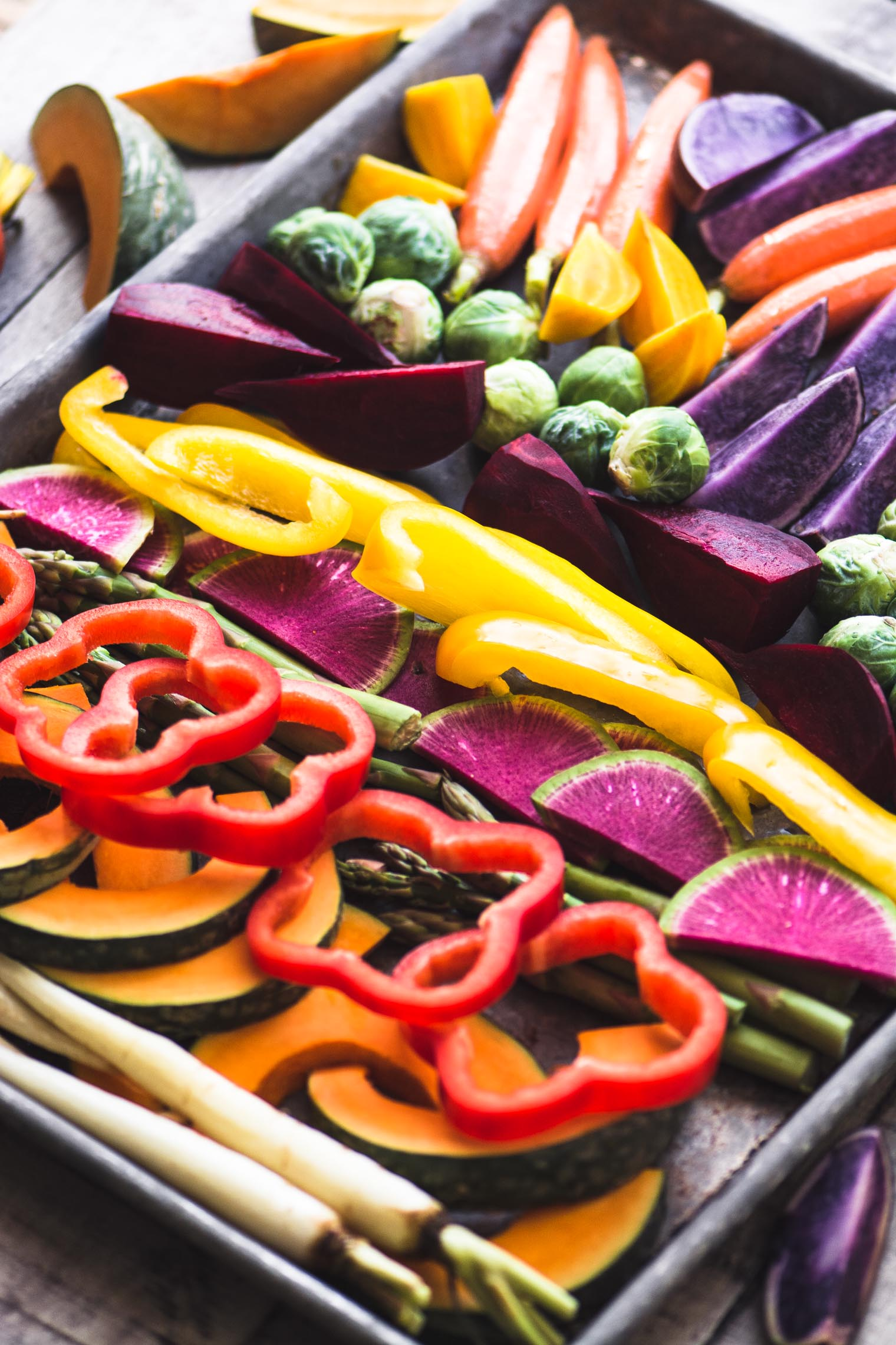 Easy Roasted Rainbow Vegetables
