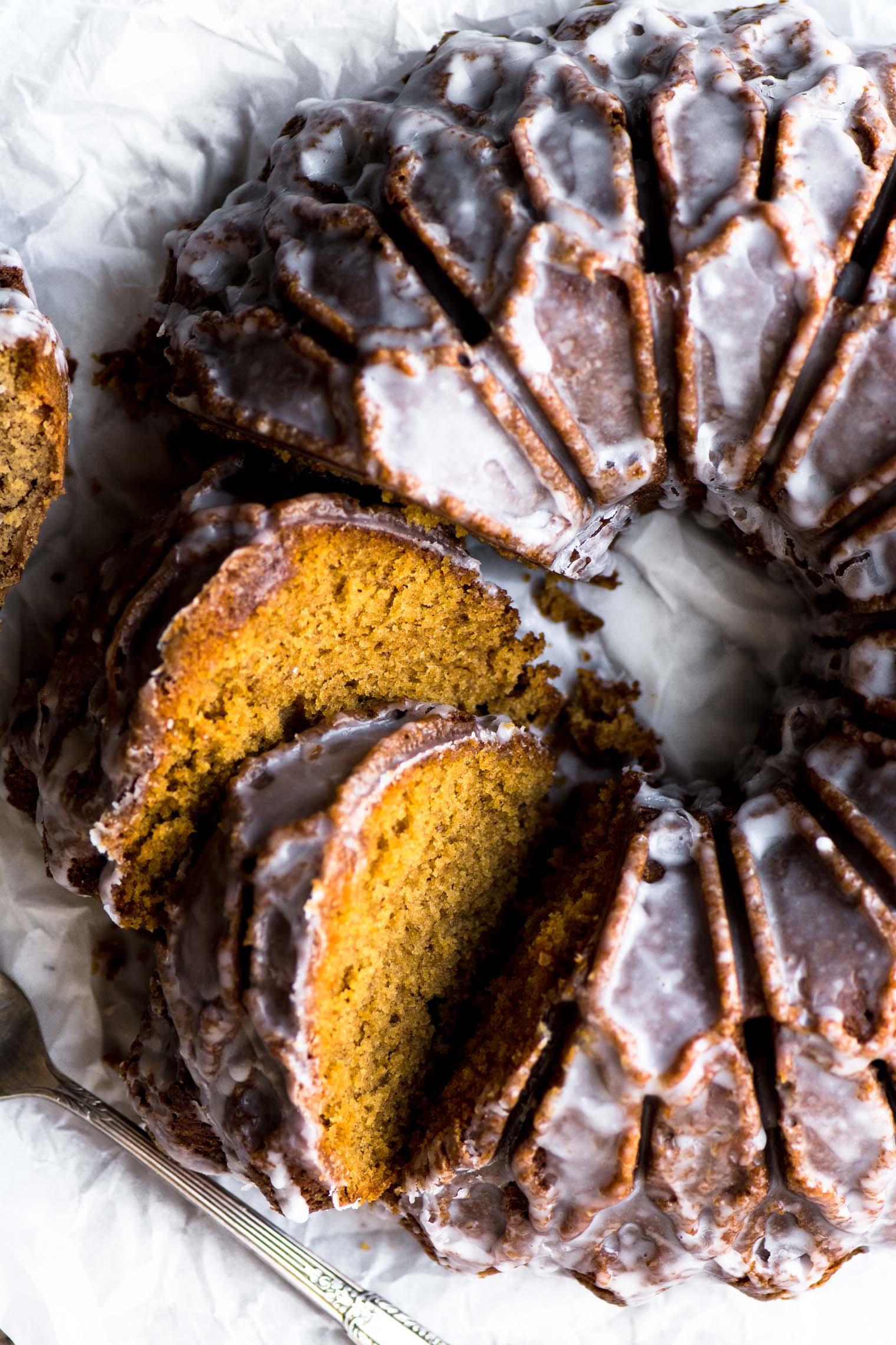 Glazed Gingerbread Bundt Cake