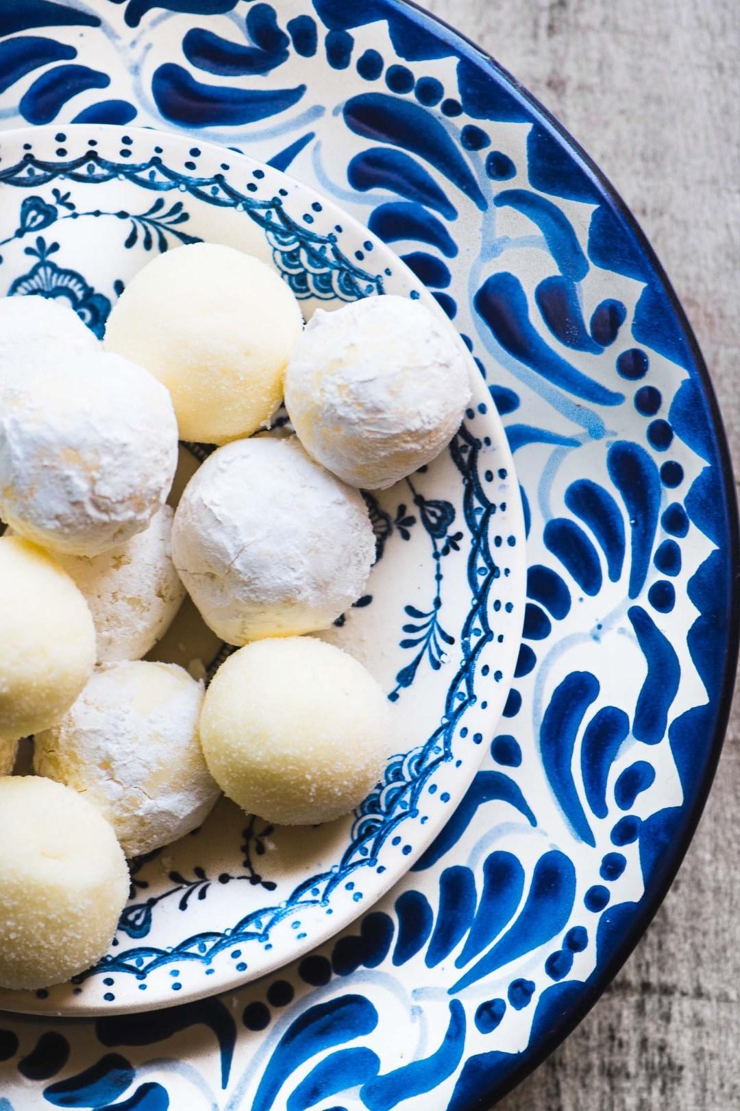 Fresh Lemon Truffles coated in sugar photograph
