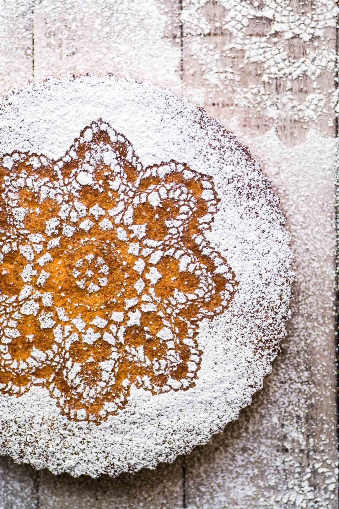 Gluten Free Tangerine Cake on a wooden table