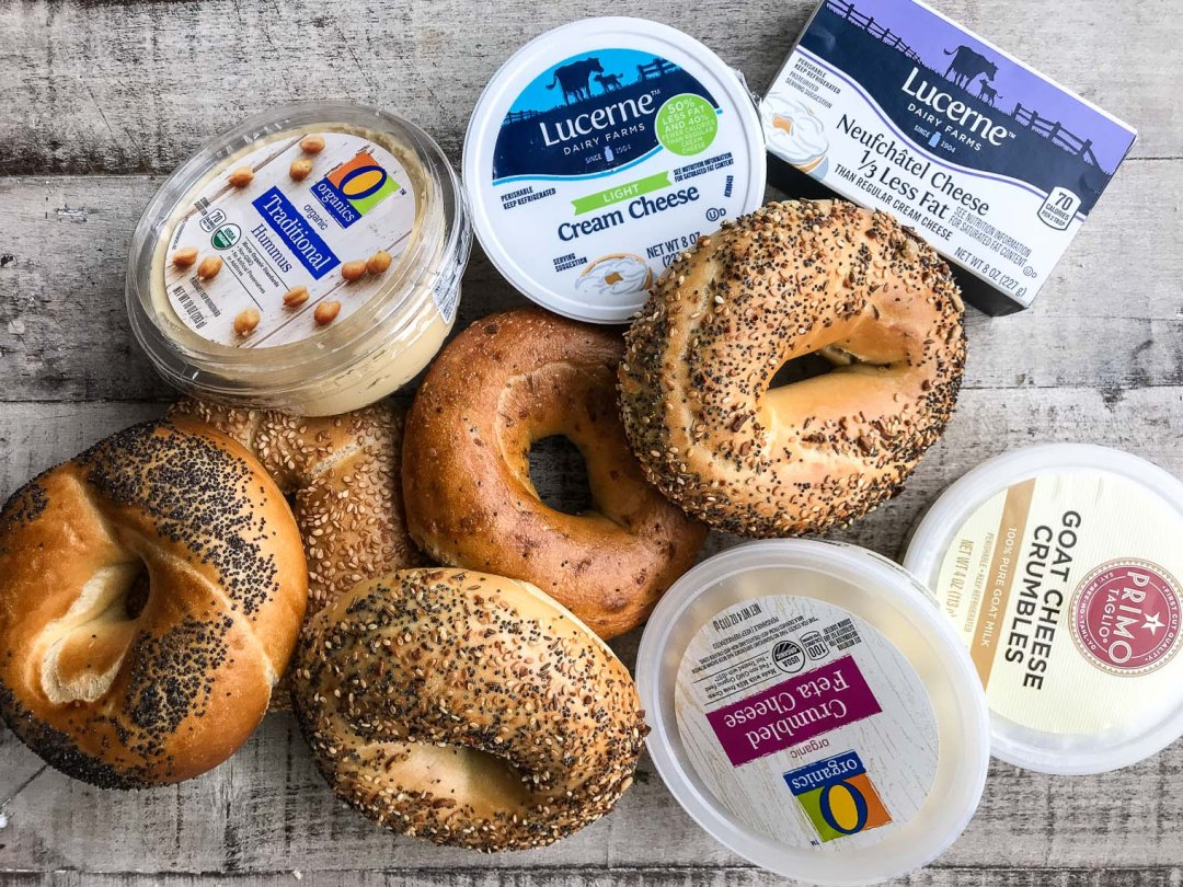 Bagels and spreads for a Bagel Bar