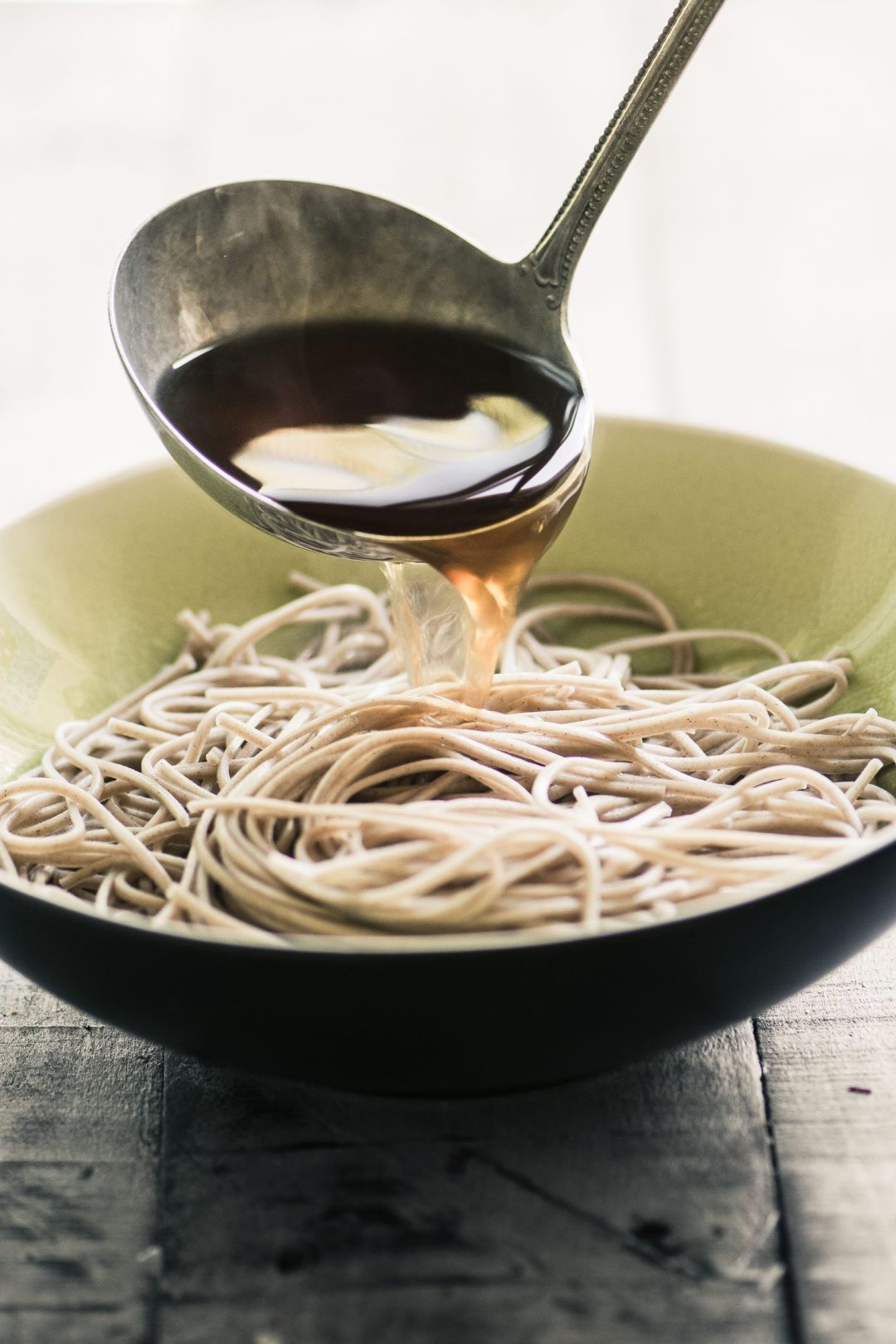 Easy Bone Broth Noodle Bowl with Herbs imagery