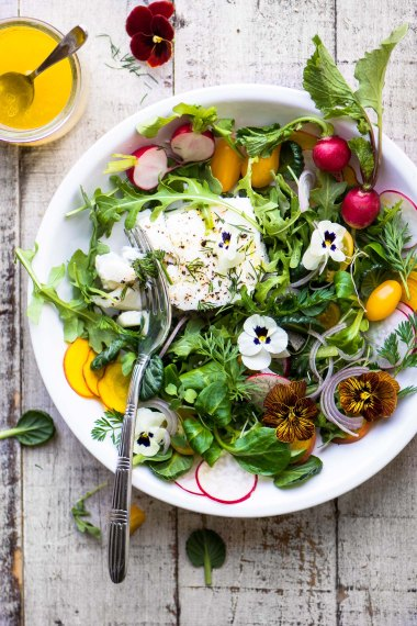Poached Halibut Salad With Meyer Lemon Vinaigrette Recipe