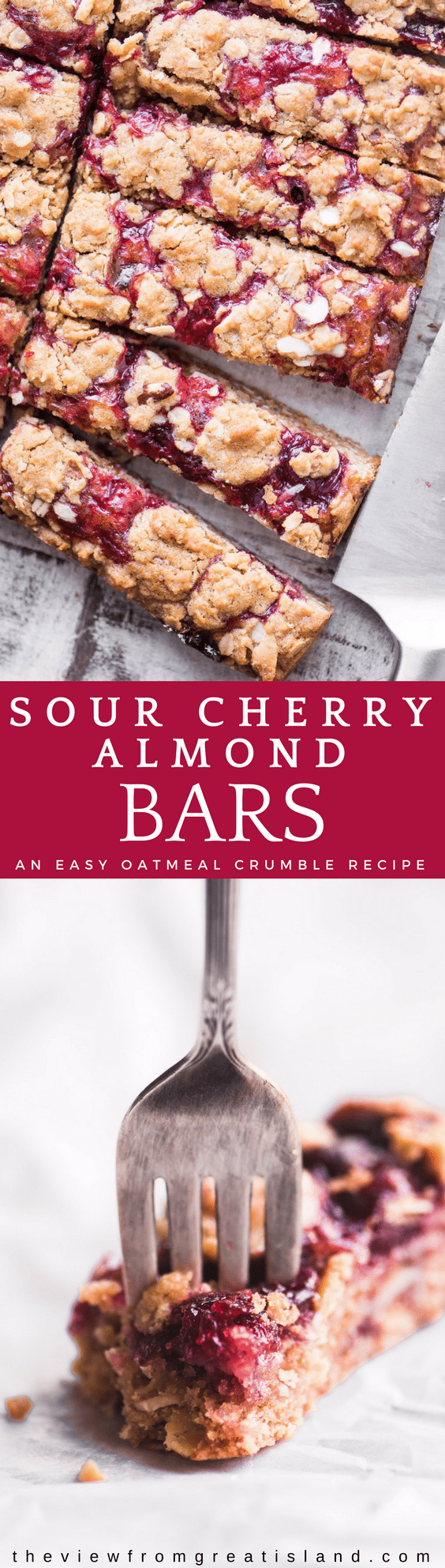 Sour cherry almond bar pin