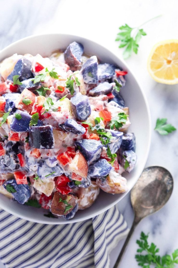 RED WHITE AND BLUE RECIPES YOU ACTUALLY WANT TO EAT! Red White & Bleu Potato Salad