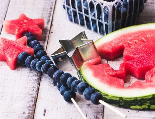 watermelon stars and blueberries