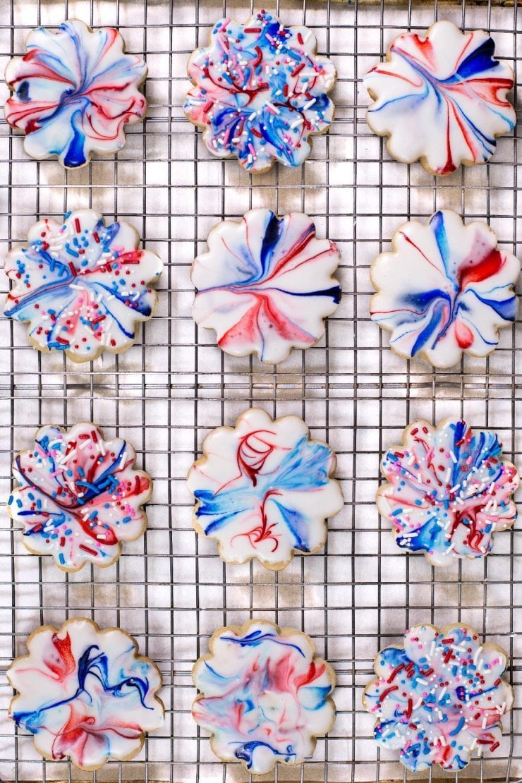 RED WHITE AND BLUE RECIPES YOU ACTUALLY WANT TO EAT! Red White and Blue Glazed Shortbread