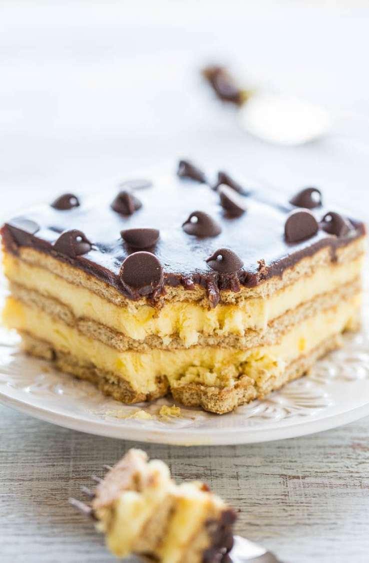 Summer's Best Icebox Cakes ~ Boston Cream Icebox Cake