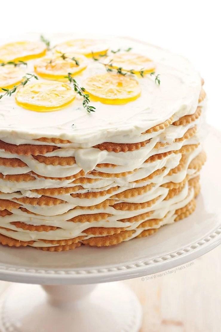 Easy Icebox Cakes for the Dog Days of Summer ~ Lemon icebox cake