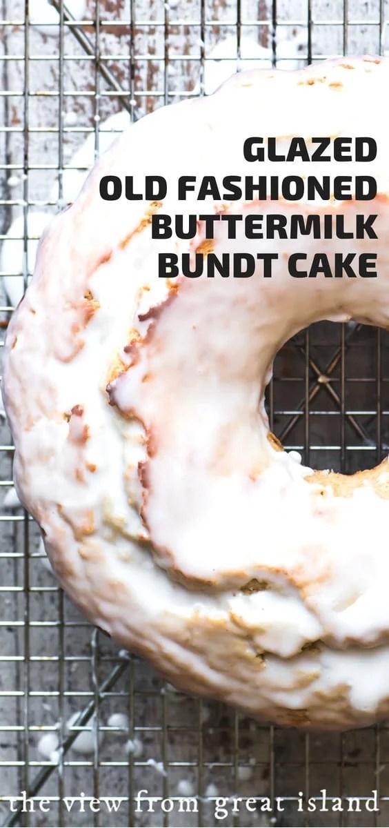 Glazed Old Fashioned Buttermilk Doughnut Bundt Cake The