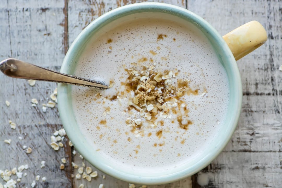 Warm Maple Oat Nut Smoothie (& How To Winterize Your Smoothie Habit)