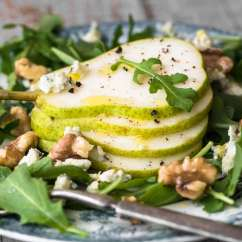 Mandolin Kitchen Slicer Painting Cabinets Cost Pear Salad With Creamy Walnut Vinaigrette | The View From ...