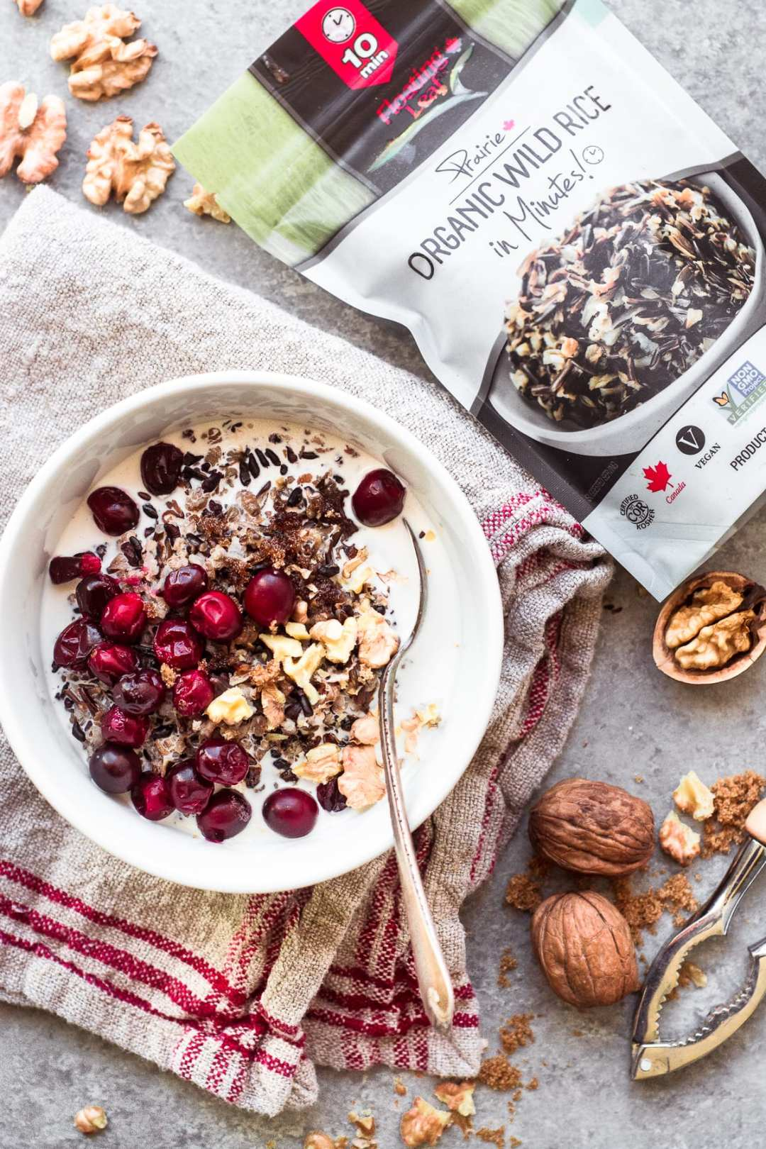 Wild Rice Porridge made with Floating Lead Wild Rice in Minutes